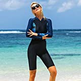 Z.L.FFLZ Nadelanzug Tauchanzug Frauen Wetsuits Langarm Swimwear Female One Piece Scuba Schnorchel Schwimmen Bodysuits DCO (Color : Schwarz, Size : M for 47 to 54kg)