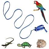 Legendog Vogelgeschirr Leine Beauty Nylon Verstellbare Papageiengeschirr Leine Bird Supplies