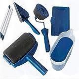 KDOAE Farbroller Multifunktionale Eckfarbenbürste Nahtlose Schwammlackrolle Set zum Dekorieren von Wänden Wandmalerei und Haushaltsgebrauch (Color : Blue, Size : One Size)