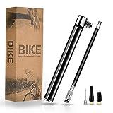 TBoonor Mini Fahrradpumpe Luftpumpe Fahrradluftpumpe Geeignet für Presta & Schrader Ventile kompakt...
