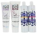 Hyaluron Blaubeer Shampoo + Haarmaske 2x300ml Anti-Gelbstich + HairBell Shampoo & Conditioner 2x250ml. Blondes und gesträhntes Haar wird aufgehellt.