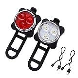 Mangetal LED Fahrradlicht Set USB Aufladbar Wasserdicht Fahrradlampe Set, LED Fahrradlampe...