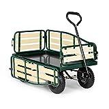 Waldbeck Ventura - Bollerwagen, Handwagen, abklappbare Seitenteile, witterungsbeständig, 300 kg...