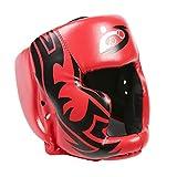JaneDream Kopfschutz für Boxen, MMA-Training, dick gepolsterter Helm, Kopfschutz, Leder, Kopfschutz...