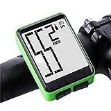 ZQQ Fahrradcomputer, Kabelloser Fahrrad-Tachometer Und Wasserdichtes Digitales LCD-Display Für...