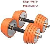 LAMTON Einstellbare Fitness Hantelset Männer Fitness Pure Steel überzogene Barbell Haushalt Gym...