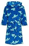 Playshoes Jungen Fleece Hai Bademantel, Blau (original), 98 (Herstellergröße: 98/104)