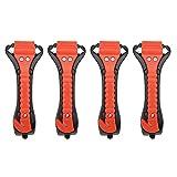 SOBW Notfallhammer fürs Auto [4er Set], Nothammer mit Gurtschneider & gehärteten Spitzen - Notfall Hammer, Sicherheitshammer, Sicherheitsgurtschneider und Fensterhammer