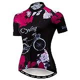 Weimostar MTB Trikot Radtrikot für Damen Mountainbike Jersey Shirts Kurzarm Rennrad Tops Pro Team...
