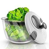 Lacari ® Salatschleuder mit großem [5L] Fassungsvermögen – Optimaler Salattrockner mit...