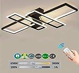 LED Wohnzimmerlampe Deckenleuchte Dimmbar Acryl-Schirm Fernbedienung Lichtfarbe/Helligkeit...