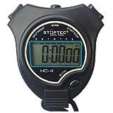 Schütt Stoppuhr Stoptec HC-4 / Stoppuhr mit großem Display/Digitale Stoppuhr mit Uhrmodus, Datum,...