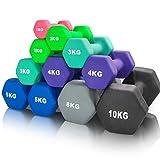 arteesol Hanteln, Neopren Kurzhanteln Set 1kg/2kg/3kg/4kg/5kg/8kg/10kg rutschfest Fitness Gewichte...