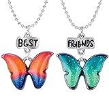 Wanfor Jewels 2Pc Freundschaft Glitzer Schmetterlinge Kinder Nagellack für Frauen
