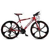 Mountainbike, 26' Zoll 6-Speichen-Räder High-Carbon Stahlrahmen, 21/24/27/30 Geschwindigkeit...