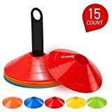 Lixada1 Lixada Markierungshütchen Agility Disc Cone Set Multi Sport Training Raumkegel mit...