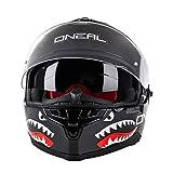 O'NEAL | Motorrad-Helm | Enduro Adventure Street | Sicherheitsnormen DOT und ECE 22.05, ABS-Schale, integrierte Sonnenblende | Challenger Helmet Wingman | Erwachsene | Schwarz | Größe XXL