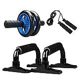 Kppto Muskeltrainingsgeräte Bauch Presse Rad-Rolle Heimfitnessgeräte Gym Roller Trainer mit...