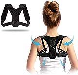 QUNPON Haltungskorrektur für Männer und Frauen, verstellbare obere Rückenstütze zur...