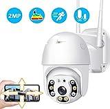 Überwachungskamera Aussen,WLAN IP Kamera Outdoor 1080P WiFi Sicherheitskamera IP66 Wasserdicht,...