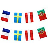 HAOT 2PCS Country Flags Banner String Flagge Nationalflagge Banner Anhänger für Bar Party...