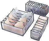 Electric Schubladen Organizer Aufbewahrungsboxen für Kleidung, Unterwäsche, Babykleidung, BHS, Socken, Krawatten, Schubladeneinsatz, Transparent, Faltbar, Flexibel