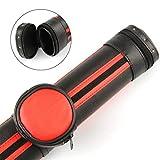 Funky Chalk Stylish Black and RED Oval Pool Snooker Cue Case-Detachable Pocket Billardqueue-Koffer,...