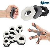 hellomagic 6 Stück Fingertrainer Finger Stretcher, handmuskeltrainer,Hand Trainingsgerät für...