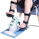 JTYX Mini Pedal Exerciser Assisted Bicycle Elektrische Rehabilitation Bike Pedal Trainer mit Schutzausrüstung Fitness Heimtrainer für Hand Arm Bein Knie