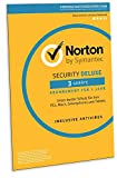Norton Security Deluxe 2019 | 3 Geräte | 1 Jahr | PC/Mac/iOS/Android | Download, Aktivierungscode...