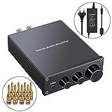 Proster Stereo Audio Verstärker 2 Kanal Mini Hi-Fi Class D Integrierter Verstärker Digitaler...