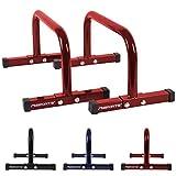 MSPORTS Low Fitness Parallettes Minibarren Professional LxBxH: 60x35x29 cm  Push-Up Bars...