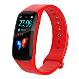 LTJX Fitness Armband mit Pulsmesser Wasserdicht IP67 Fitness Tracker Smartwatch Aktivitätstracker...