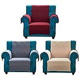 wisedwell Polyester Sofabezug Sesselbezug Couchbezug Sofapolsterbezug Anti-Rutsch Schonbezug Verstellbarer Möbel Schutz Couch Abdeckung