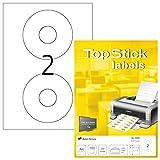 TopStick 8696 CD Etiketten DIN A4 (Ø 117 mm, 100 Blatt, Papier, matt) selbstklebend, bedruckbar,...