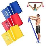 OMERIL Theraband Set Lang [ 2M x 3 ] Fitnessband Set Gymnastikband in 3 Stärke, Fitnessbänder...