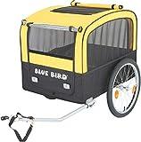 P4B | Hunde Transportanhänger für Fahrrad | Große Einstiegsmöglichkeit | Netz mit...