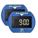 2x Park Lite elektronische Parkscheibe digitale Parkuhr blau mit offizieller Zulassung - 2 Stück...