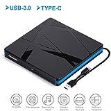 CD/DVD Laufwerk, MosKee USB-C-Brenner für CD,Externes DVD Laufwerk USB 3.0 Plug-and-Play für...