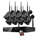 TMEZON WLAN 8CH HD 960P NVR Funk Überwachungsset mit 8 Drahtlos 960P 1.3Megapixel Außen Tag Nacht...