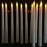 aolongwl Kerzenlicht 200 Stück Flammenlose Led-spitzkerzen, Gelb Flackerndes Licht.