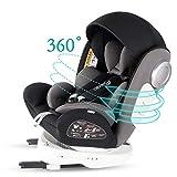 Bonio Kindersitz 360 ° Drehung Baby Autositz Gruppe 0+/1/2/3 (0-12 Jahre alt) ISOFIX und LATCH...