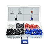 Afeld Elektro Aderendhülsen Set - 600 Stück - isoliert - Aderhülsen in Größen 0,5mm 0,75mm 1mm 1,5mm 2,5mm