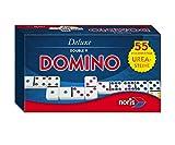 Noris 606108003 606108003-Deluxe Doppel 9 Domino, Spieleklassiker