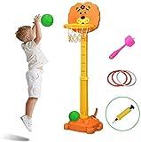 YQZ Basketball Hoop Set Stand, 3-in-1-Sportaktivitätszentrum für Kinder mit Abnäher und...