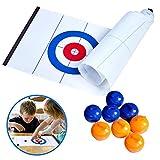 LAWARY Tabletop Curling Game Kompaktes Curling-Brettspiel Tragbare Mini-Tabletop-Spiele für die...