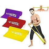 WOTEK Fitnessbänder Set widerstandsbänder krafttraining Fitnessband Theraband Resistance band-3x...