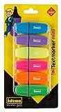 Idena 10490 Texmarker Mini, 6 Farben, 6 Stück