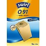 Swirl O 91 Spezialpapier Staubsaugerbeutel für Omega Staubsauger, Classic, 9 Stück inkl. 4 Filter
