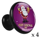 Weihnachtsmann 08 Möbelgriff Legierung Kabinett Knöpfe Runde 4 Stück Zieht Schrank Griffe Kommode...